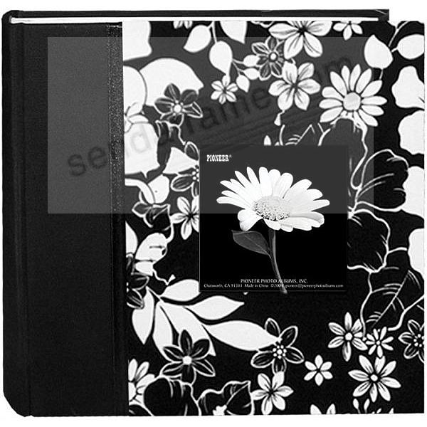 LANA Black & White Fabric Bi-Directional 4x6 2-up frame cover album by Pioneer®