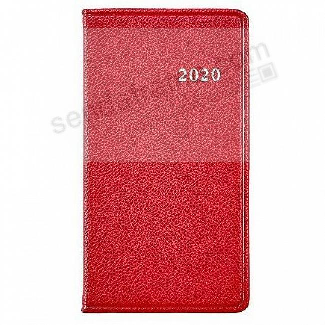 2020 RED 6in Pocket Datebook Eco-Leather Diary by Post Impressions™