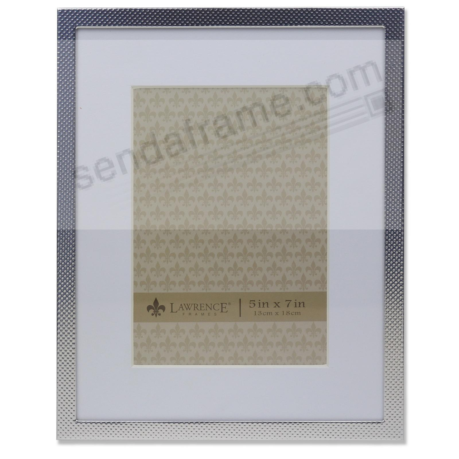 Metallic Swiss-dot pattern with mat 7x9/5x7 by Lawrence Frames®