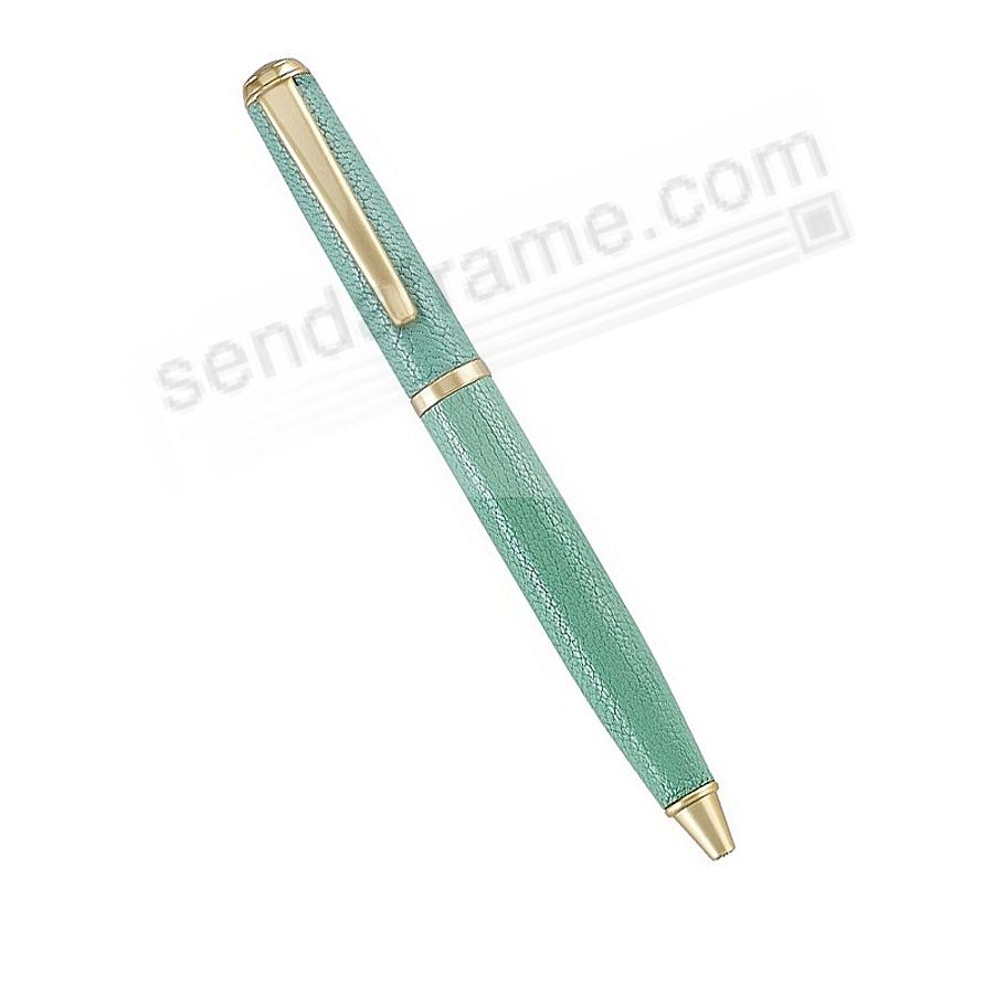 Full Wrap Fine Leather PEN in Robins-Egg Blue Goatskin by Graphic Image™