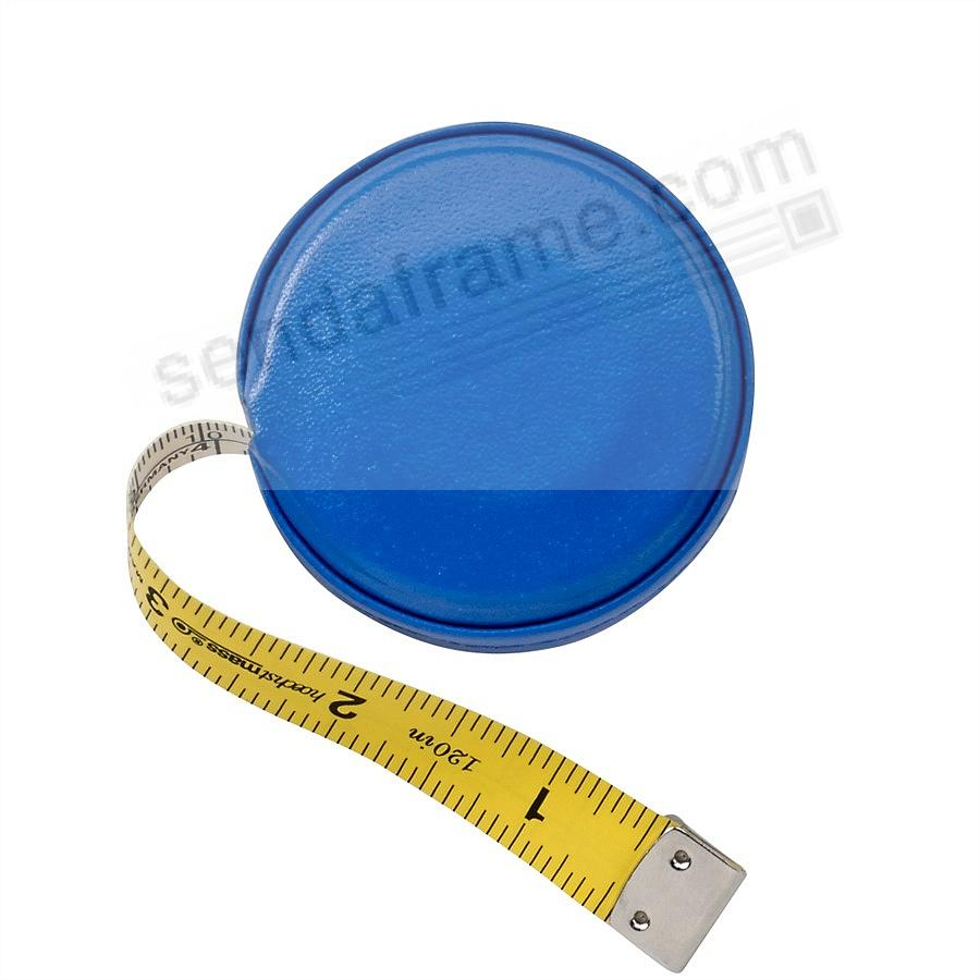 Tape Measure Blue Vachetta Leather by Graphic Image™