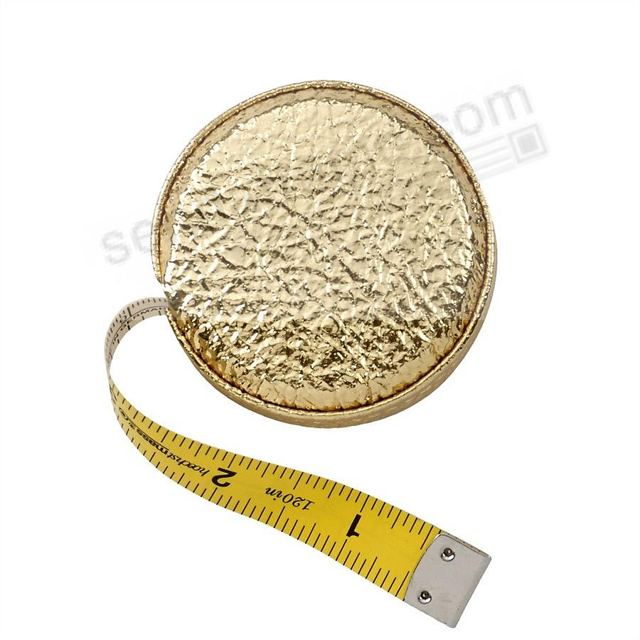 Tape Measure Gold Vachetta Leather by Graphic Image™