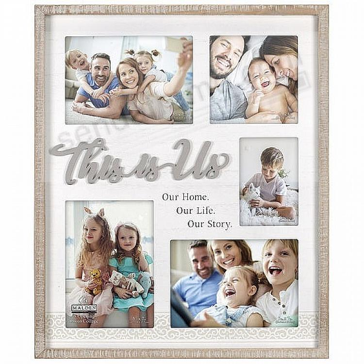 THIS IS US Family Story Collage displays (5) photos by Malden®
