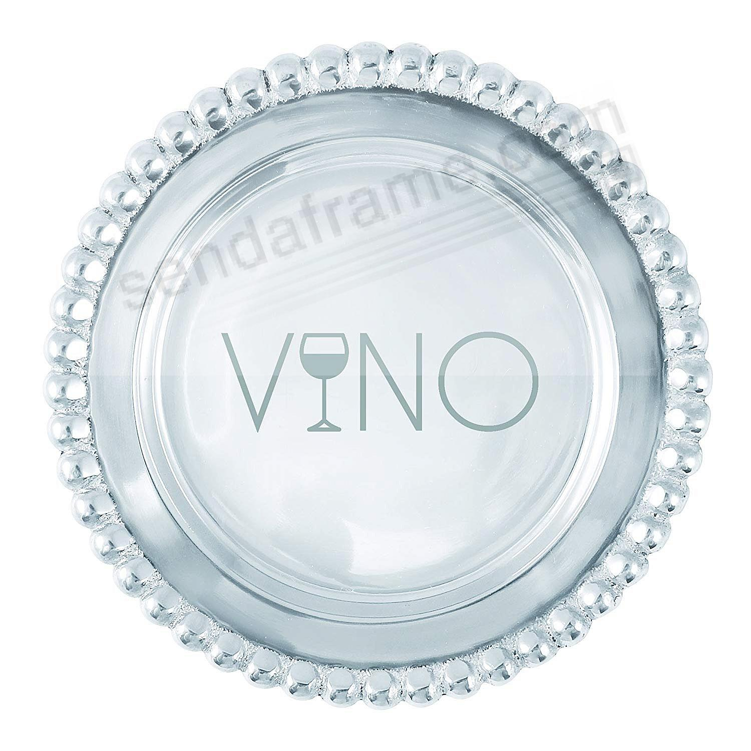 BEADED WINE PLATE VINO by Mariposa®