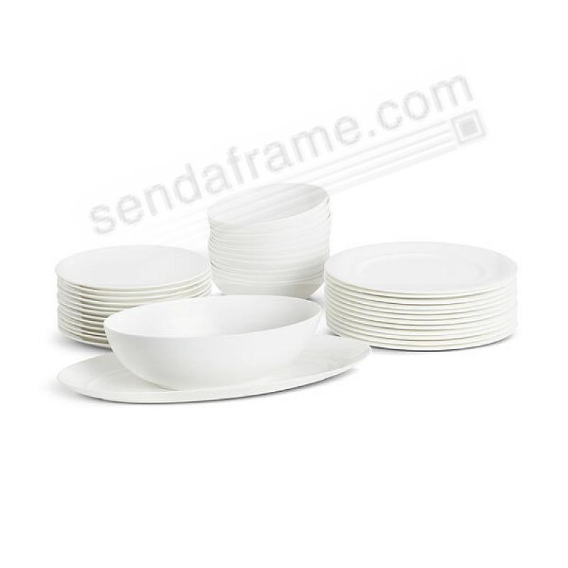The SKYE DINNERWARE BUNDLE (38-pc Set) crafted by Nambe®