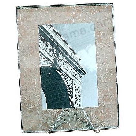 ETCHED-PATTERN Glass Float Frame 5½x7/4x6 Silver by Bedford Downing®