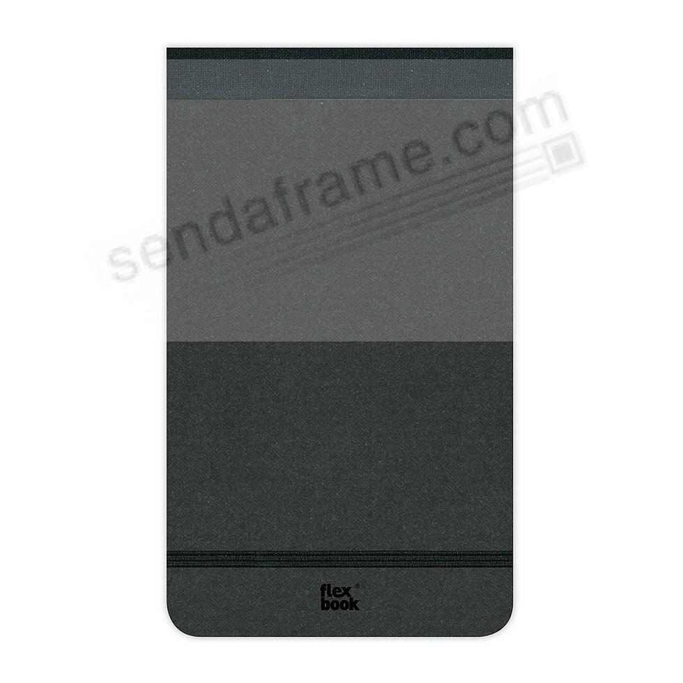 FLEXBOOK NOTEPAD 8¼x11 Ruled Black/Black by PratParis®