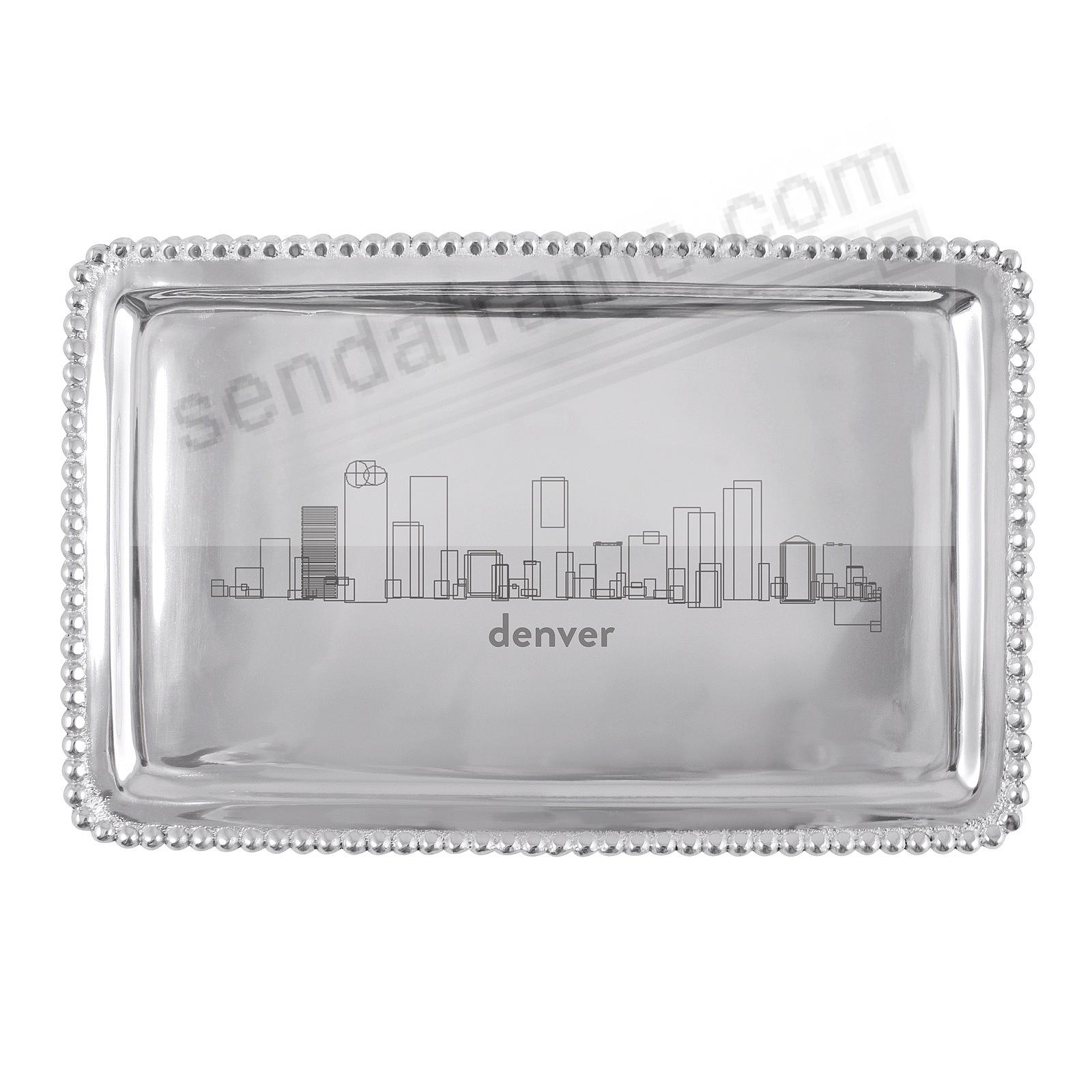 CITYSCAPES Denver-CO BEADED BUFFET TRAY crafted by Mariposa®