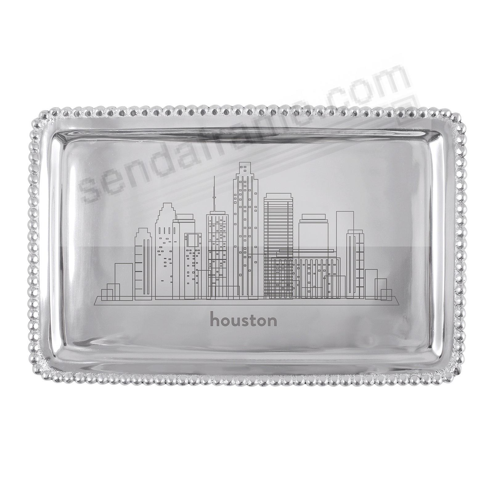 The HOUSTON-TX CITYSCAPE BEADED BUFFET TRAY crafted by Mariposa®