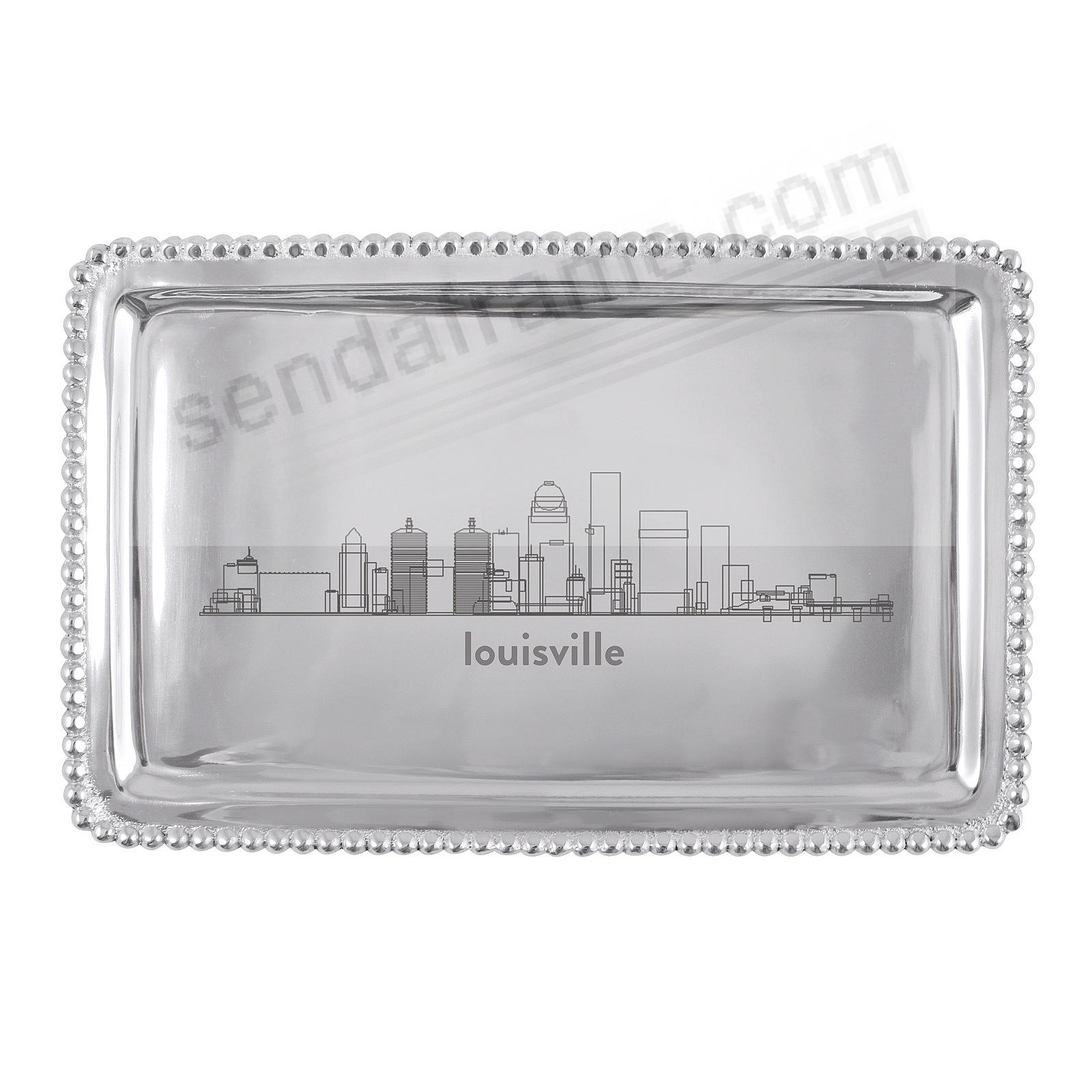 The LOUISVILLE-KY CITYSCAPE BEADED BUFFET TRAY crafted by Mariposa®