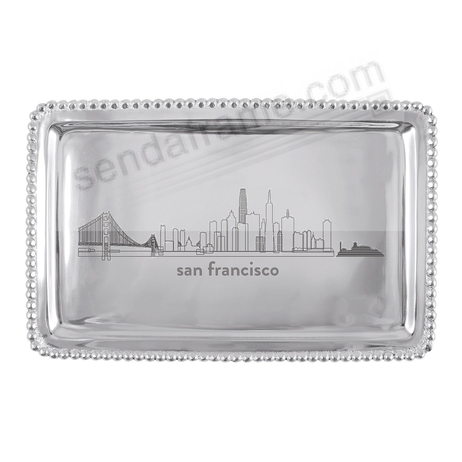 The San Francisco-CA CITYSCAPE BEADED BUFFET TRAY crafted by Mariposa®