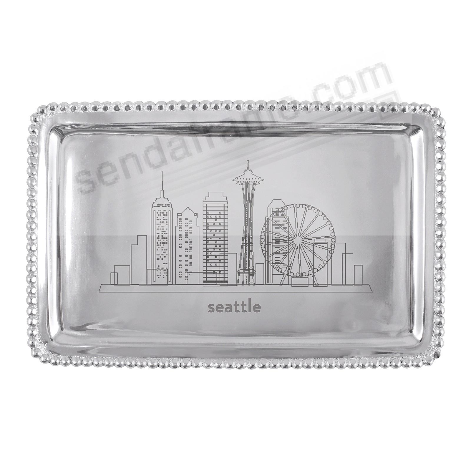 The SEATTLE-WA CITYSCAPE BEADED BUFFET TRAY crafted by Mariposa®