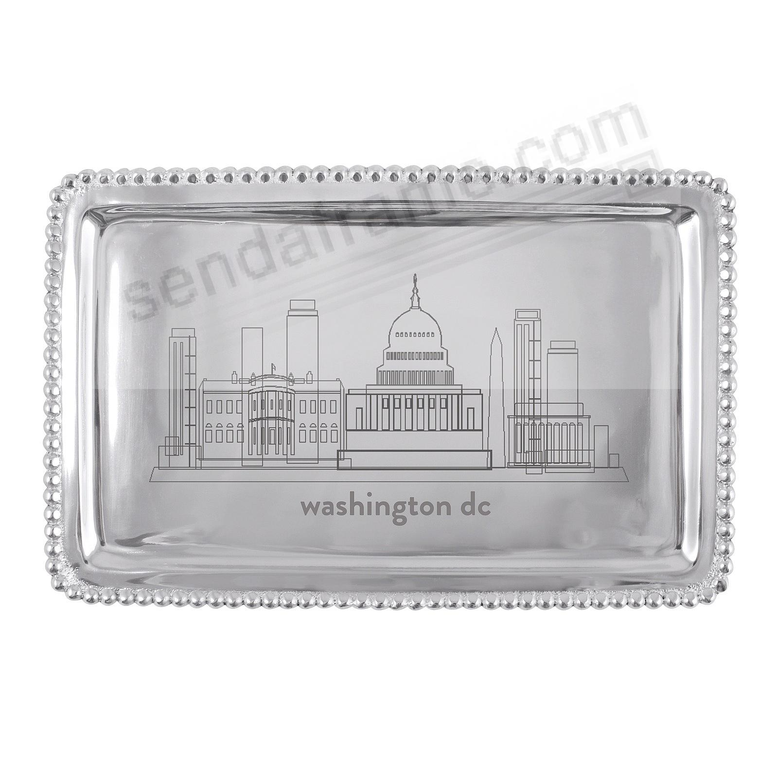 The WASHINGTON DC CITYSCAPE BEADED BUFFET TRAY crafted by Mariposa®