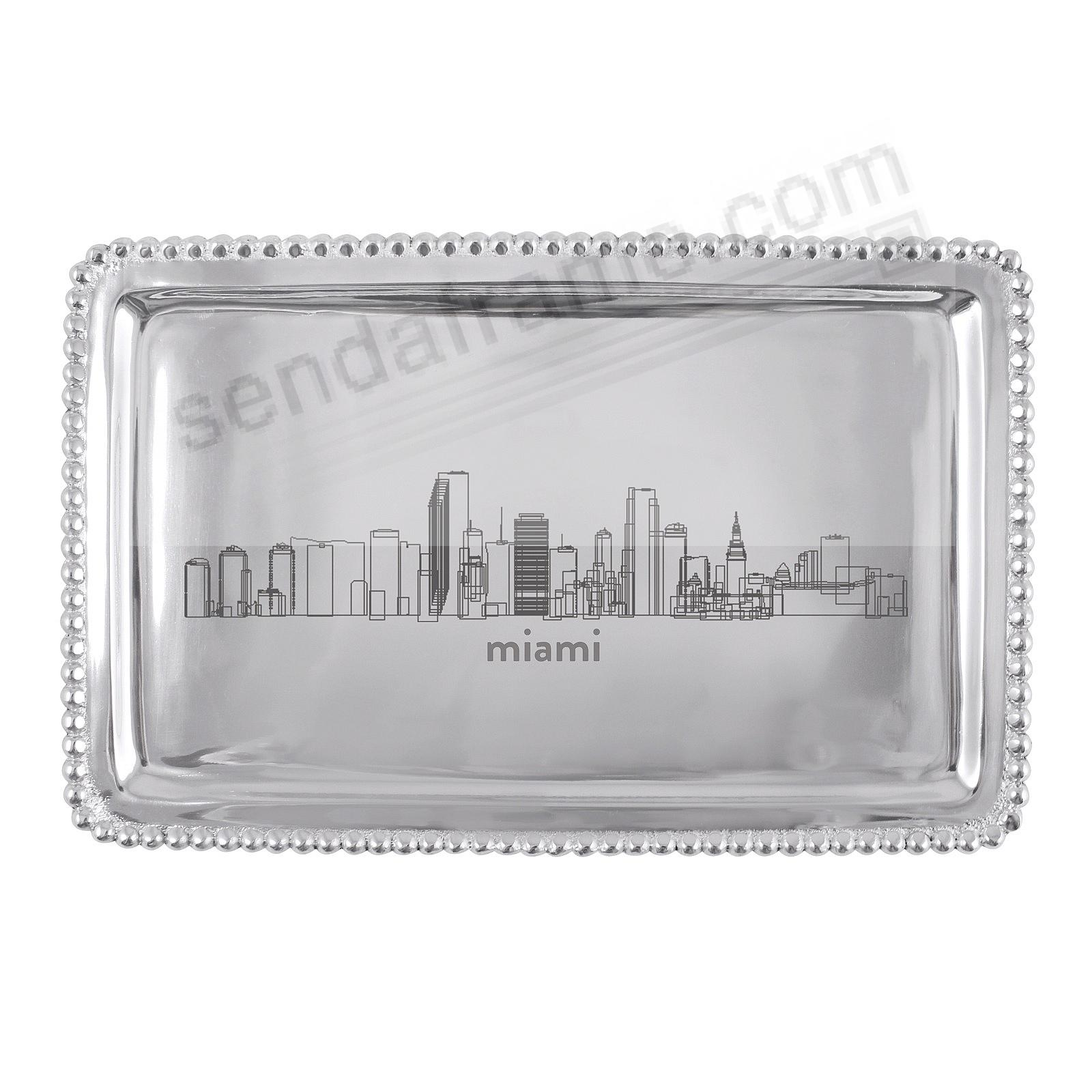 The MIAMI-FL CITYSCAPE BEADED BUFFET TRAY crafted by Mariposa®