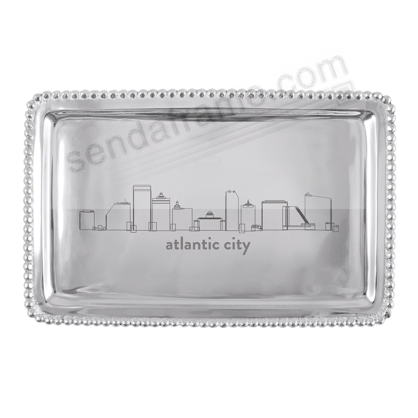 The ATLANTIC CITY NJ CITYSCAPE BEADED BUFFET TRAY crafted by Mariposa®