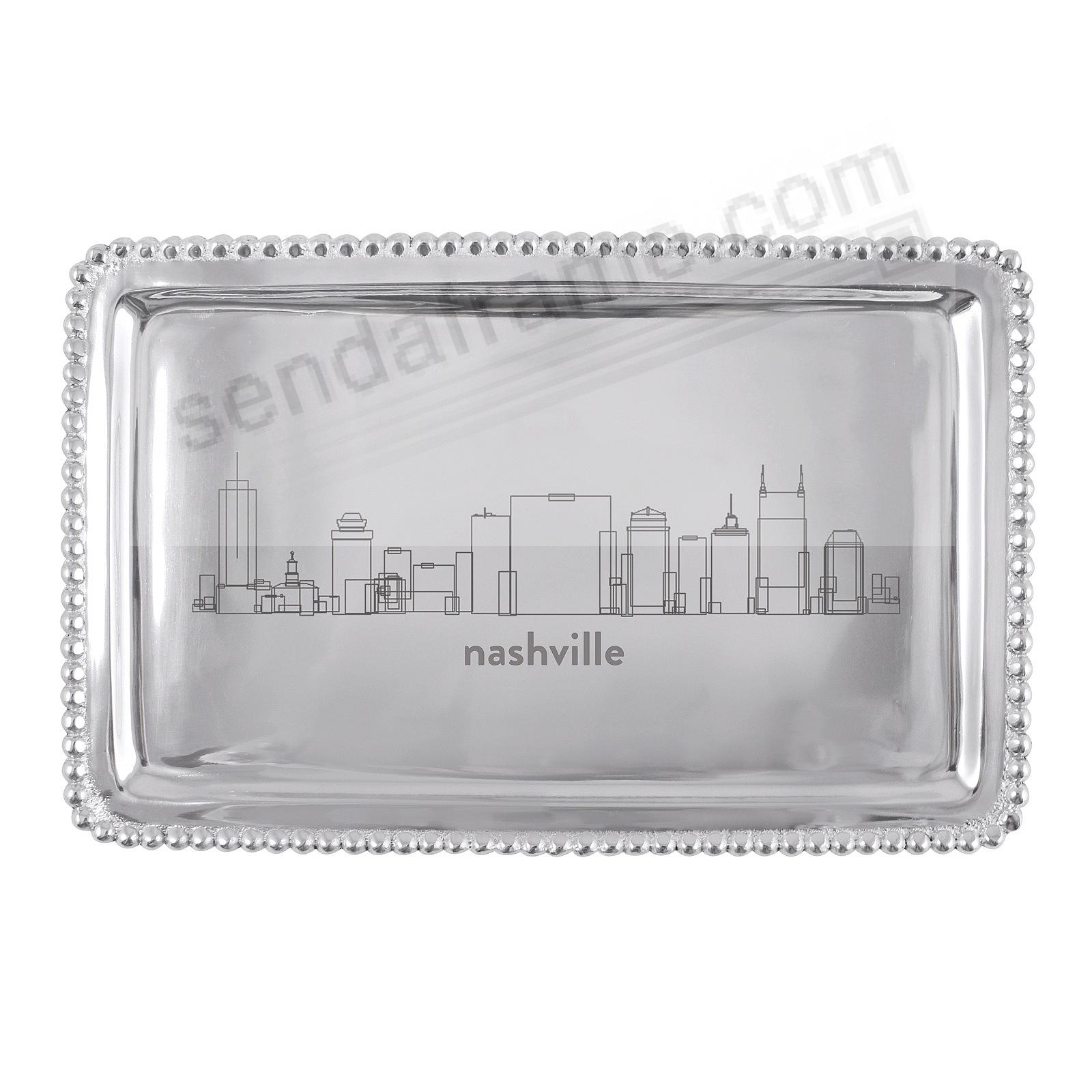 The NASHVILLE-TN CITYSCAPE BEADED BUFFET TRAY crafted by Mariposa®