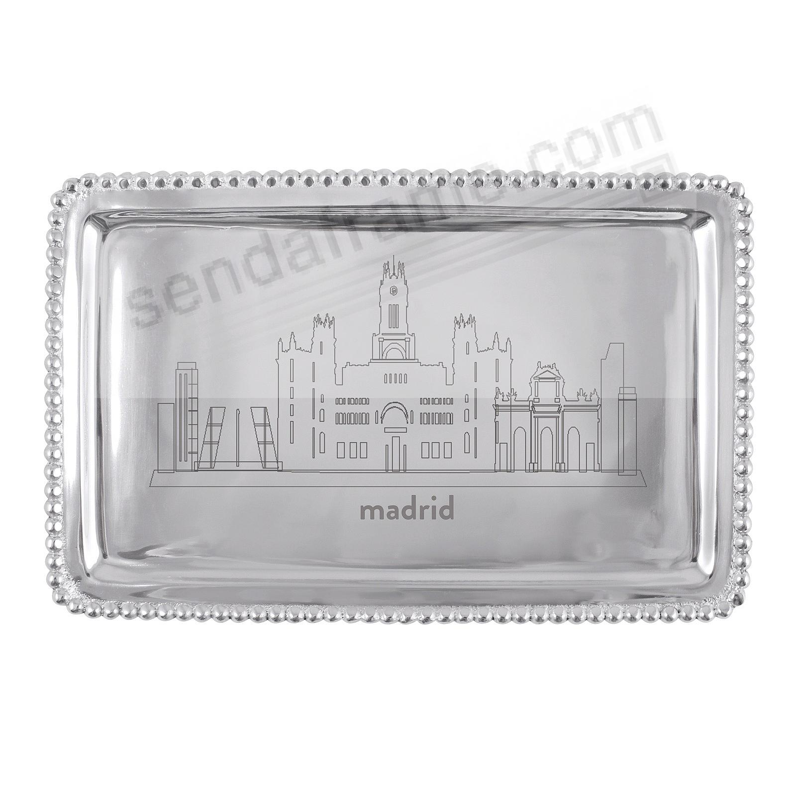 The MADRID-SPAIN CITYSCAPE BEADED BUFFET TRAY crafted by Mariposa®