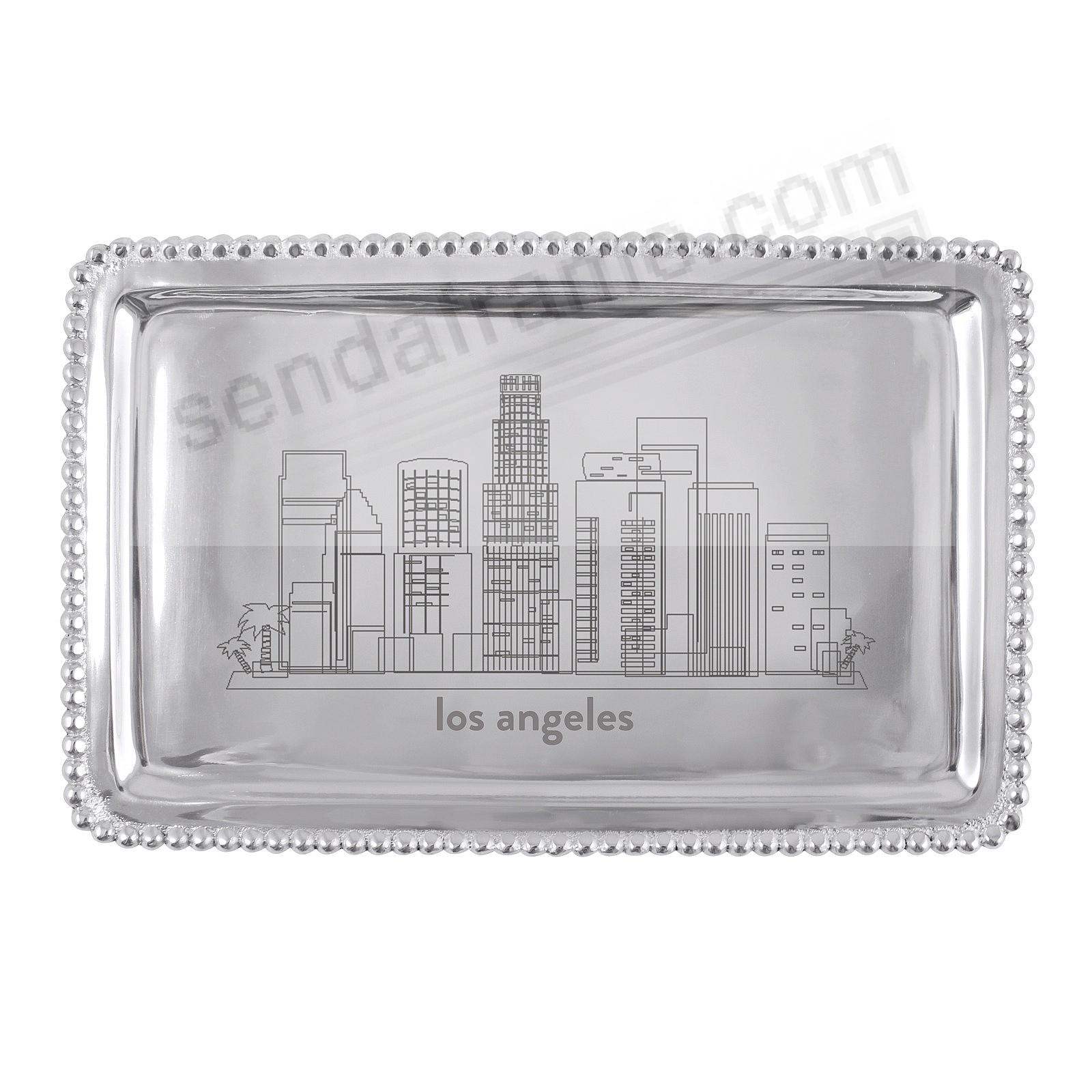 The LOS ANGELES-CA CITYSCAPE BEADED BUFFET TRAY crafted by Mariposa®