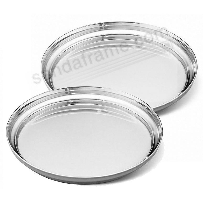 The MANHATTAN WINEGLASS COASTER (set of 2) crafted by Georg Jensen®