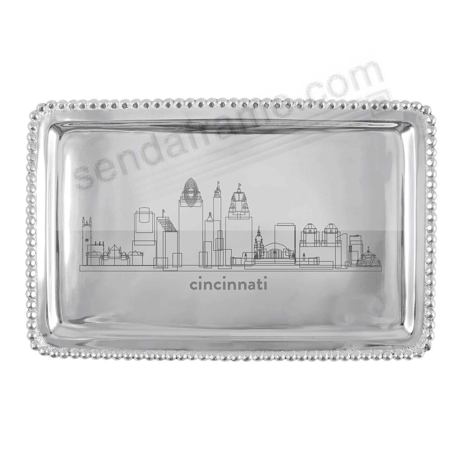 The CINCINNATI-OHIO CITYSCAPE BEADED BUFFET TRAY crafted by Mariposa®
