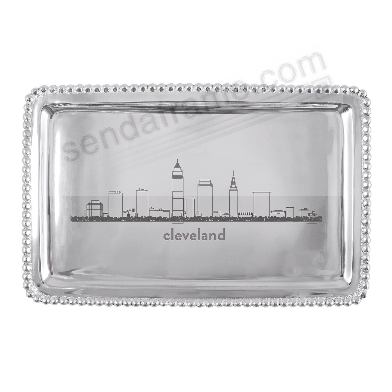 The CLEVELAND-OH CITYSCAPE BEADED BUFFET TRAY crafted by Mariposa®