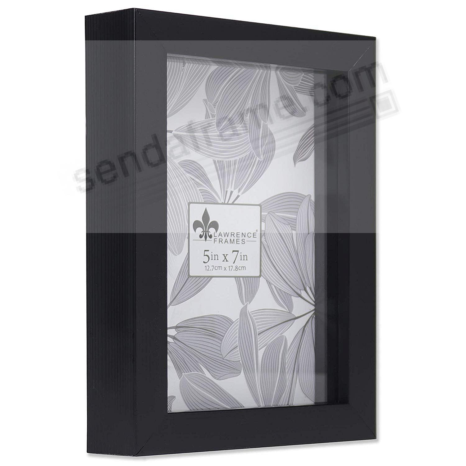 WEATHERED BLACK Shadow Box 5x7 frame ¾in depth by Lawrence®
