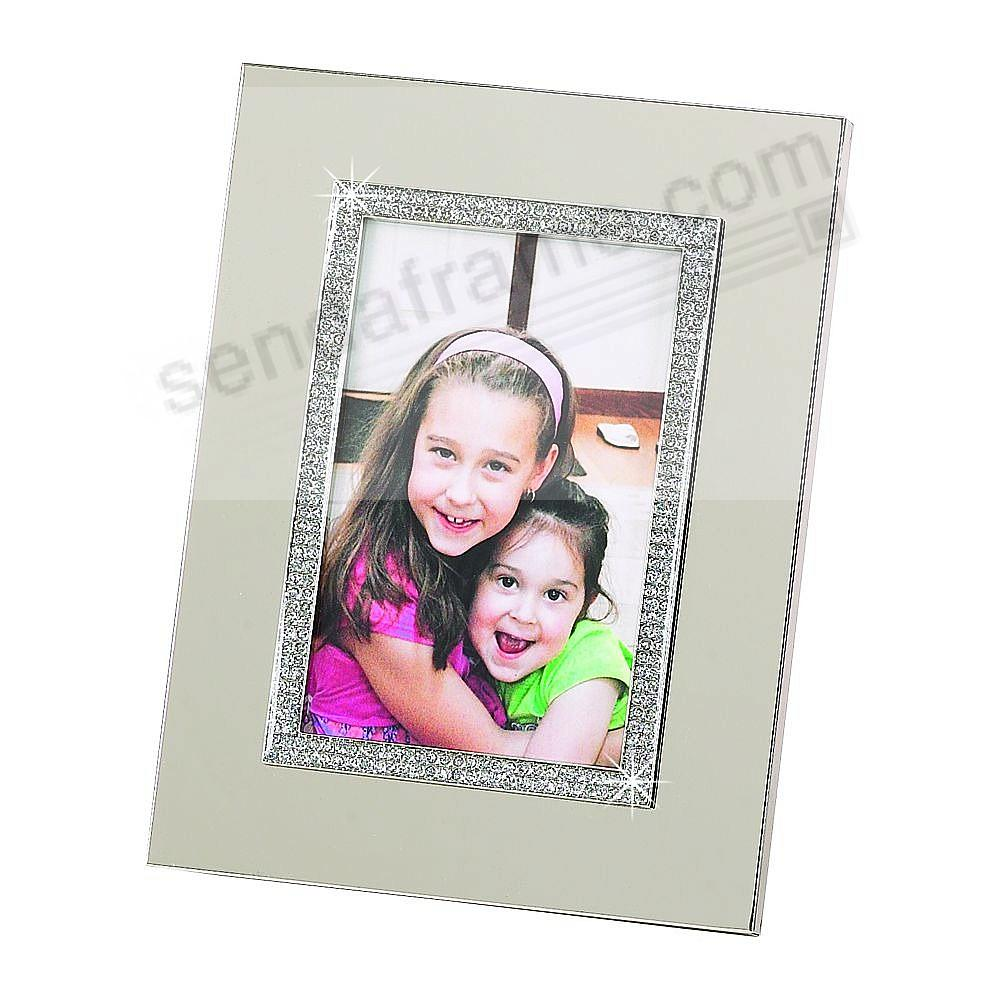WHITE JEWELS Crystal 4x6 frame - Beautifully Engraveable!