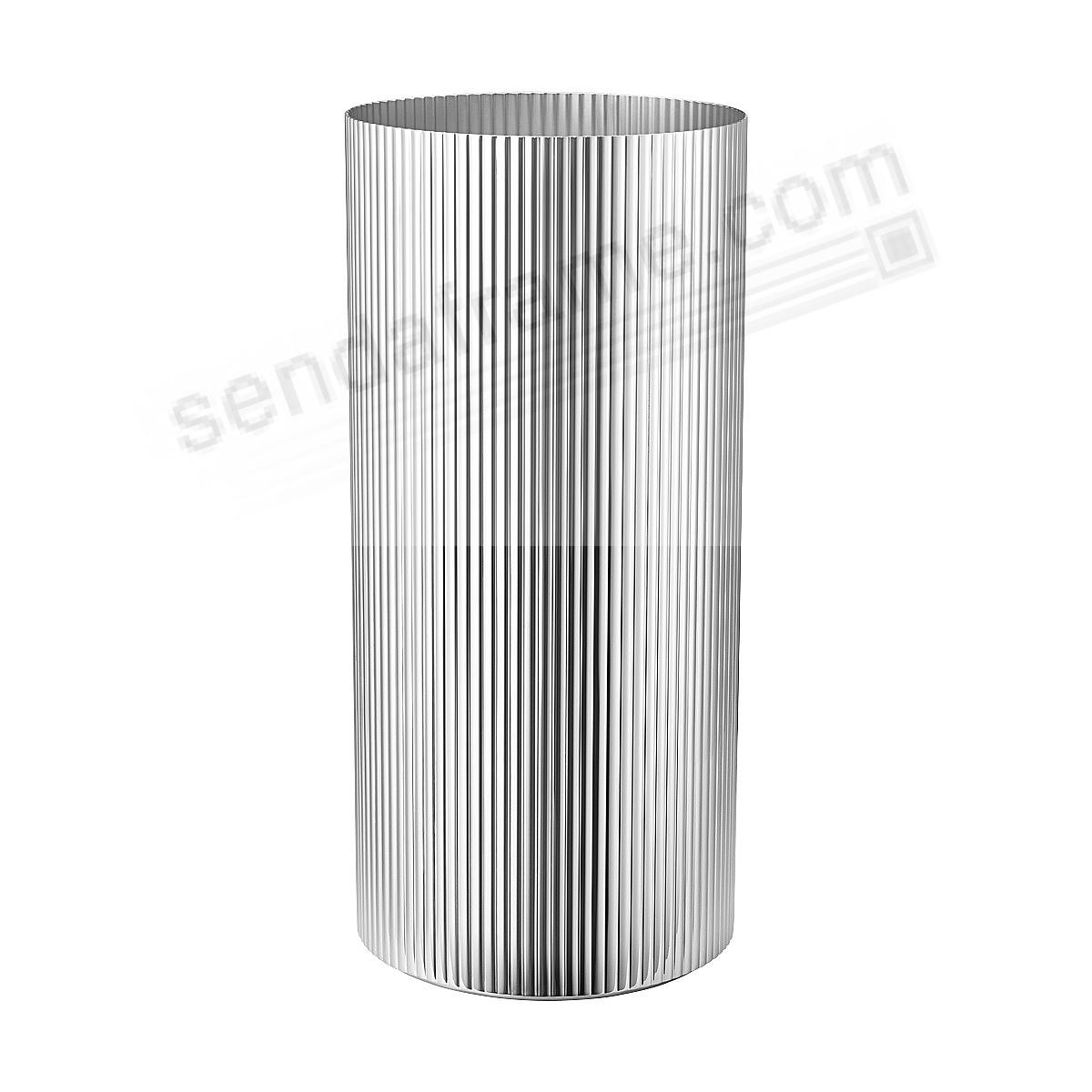 The BERNADOTTE VASE (LG - 10in) Stainless Steel by Georg Jensen®