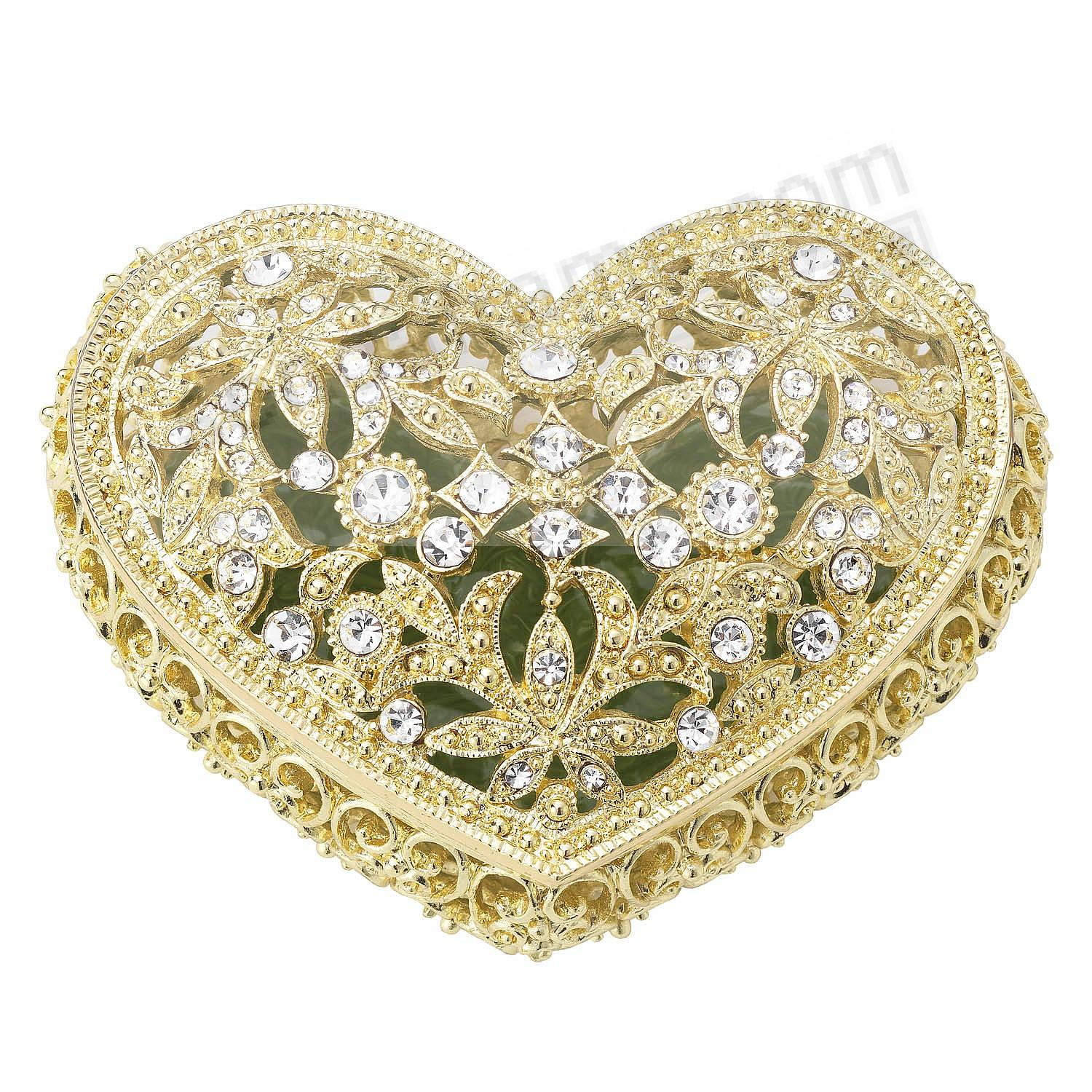 GOLD LUXEMBOURG HEART BOX by Olivia Riegel®