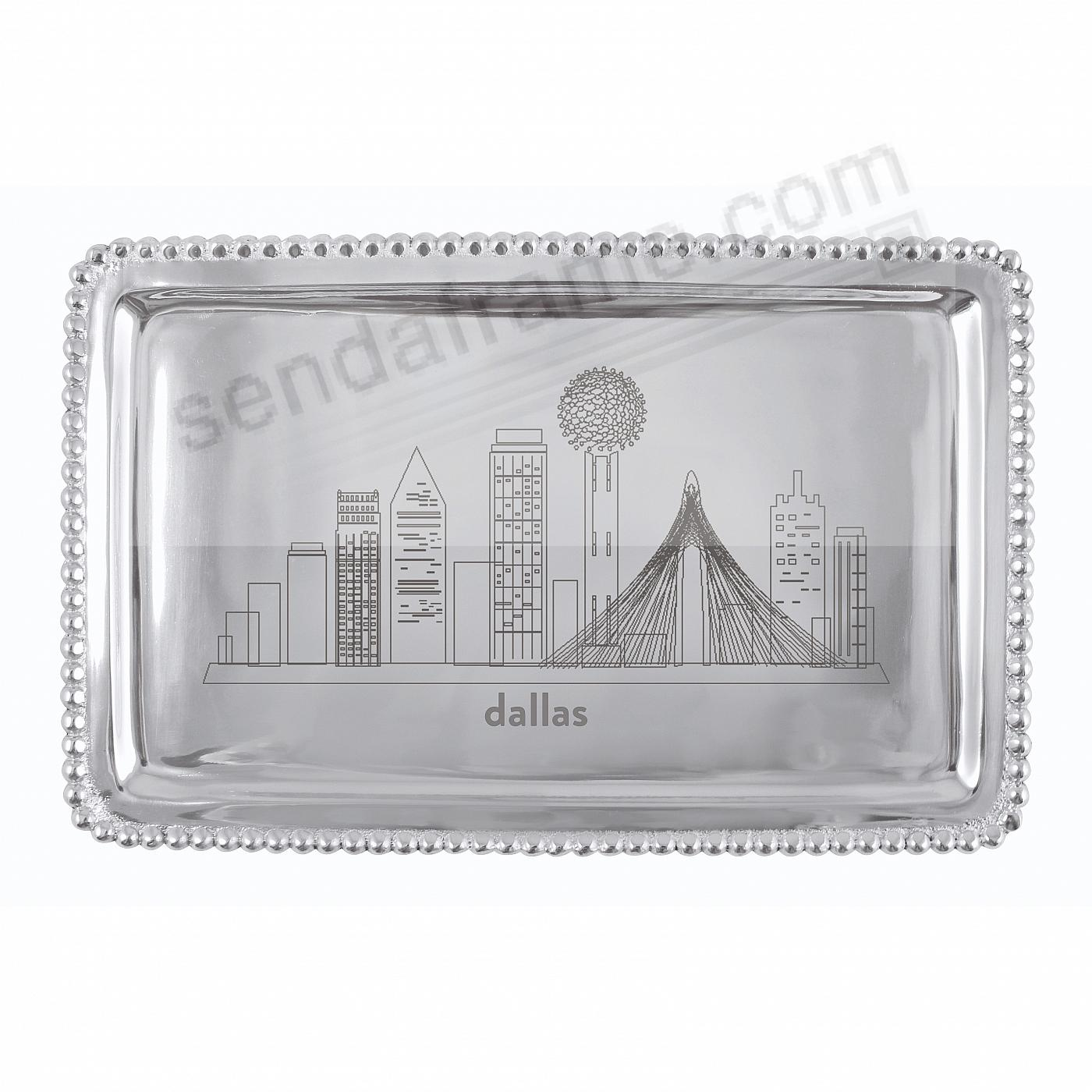 The DALLAS-TX CITYSCAPE BEADED BUFFET TRAY crafted by Mariposa®