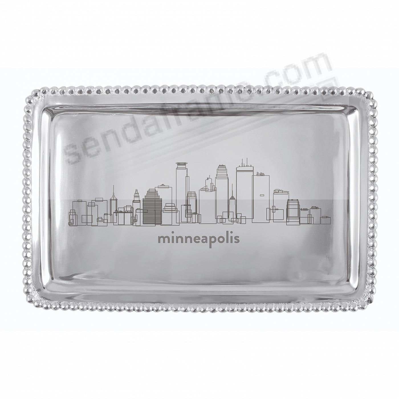 The MINNEAPOLIS-MN CITYSCAPE BEADED BUFFET TRAY crafted by Mariposa®