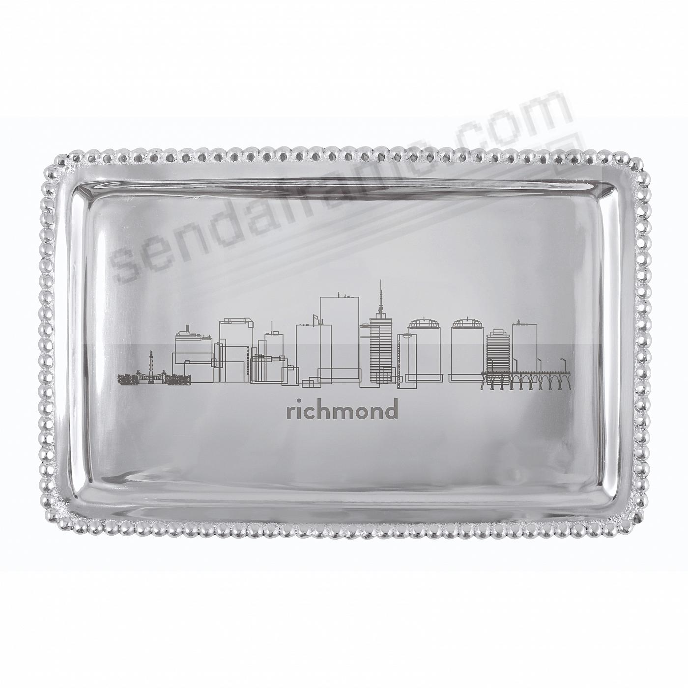 The RICHMOND-VIRGINIA CITYSCAPE BEADED BUFFET TRAY crafted by Mariposa®