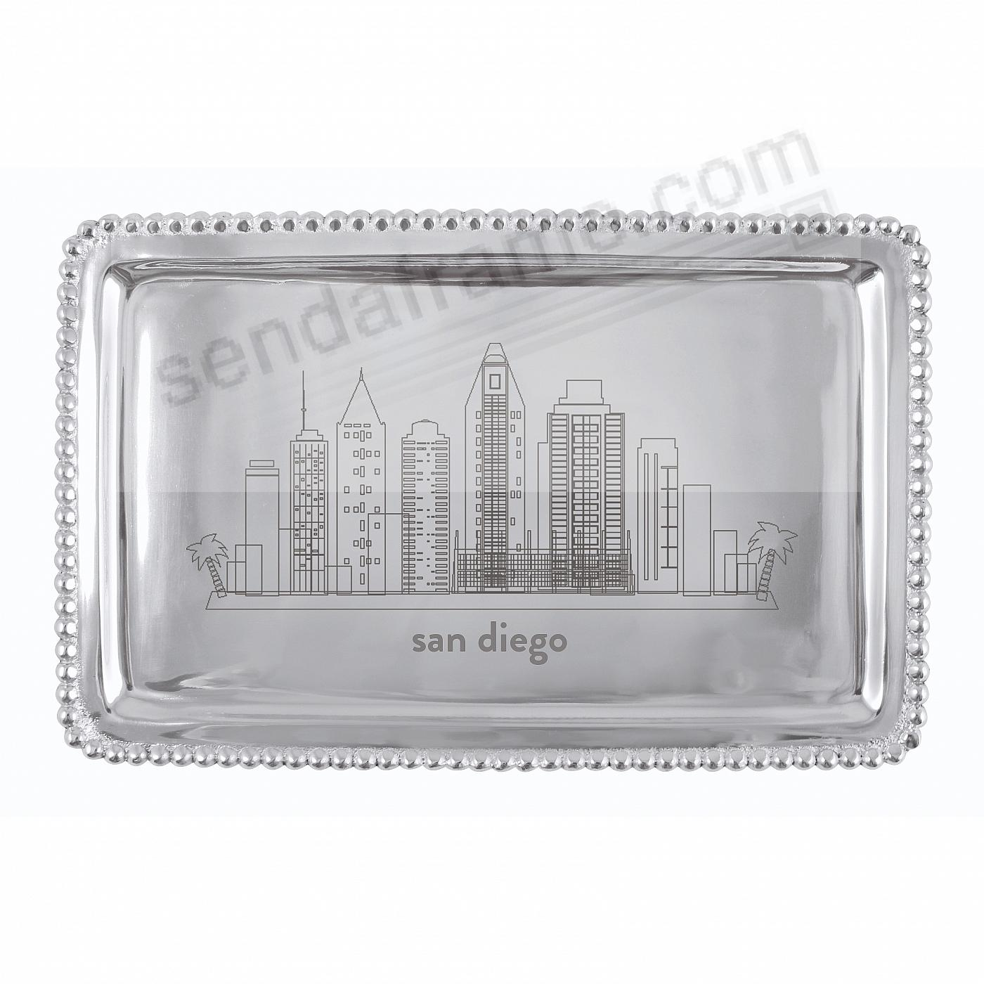 The SAN DIEGO-CALIFORNIA CITYSCAPE BEADED BUFFET TRAY crafted by Mariposa®