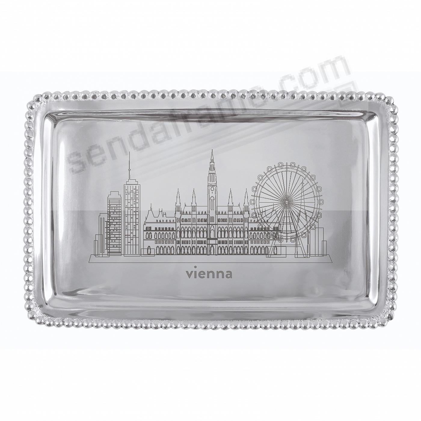 The VIENNA-AUSTRIA CITYSCAPE BEADED BUFFET TRAY crafted by Mariposa®