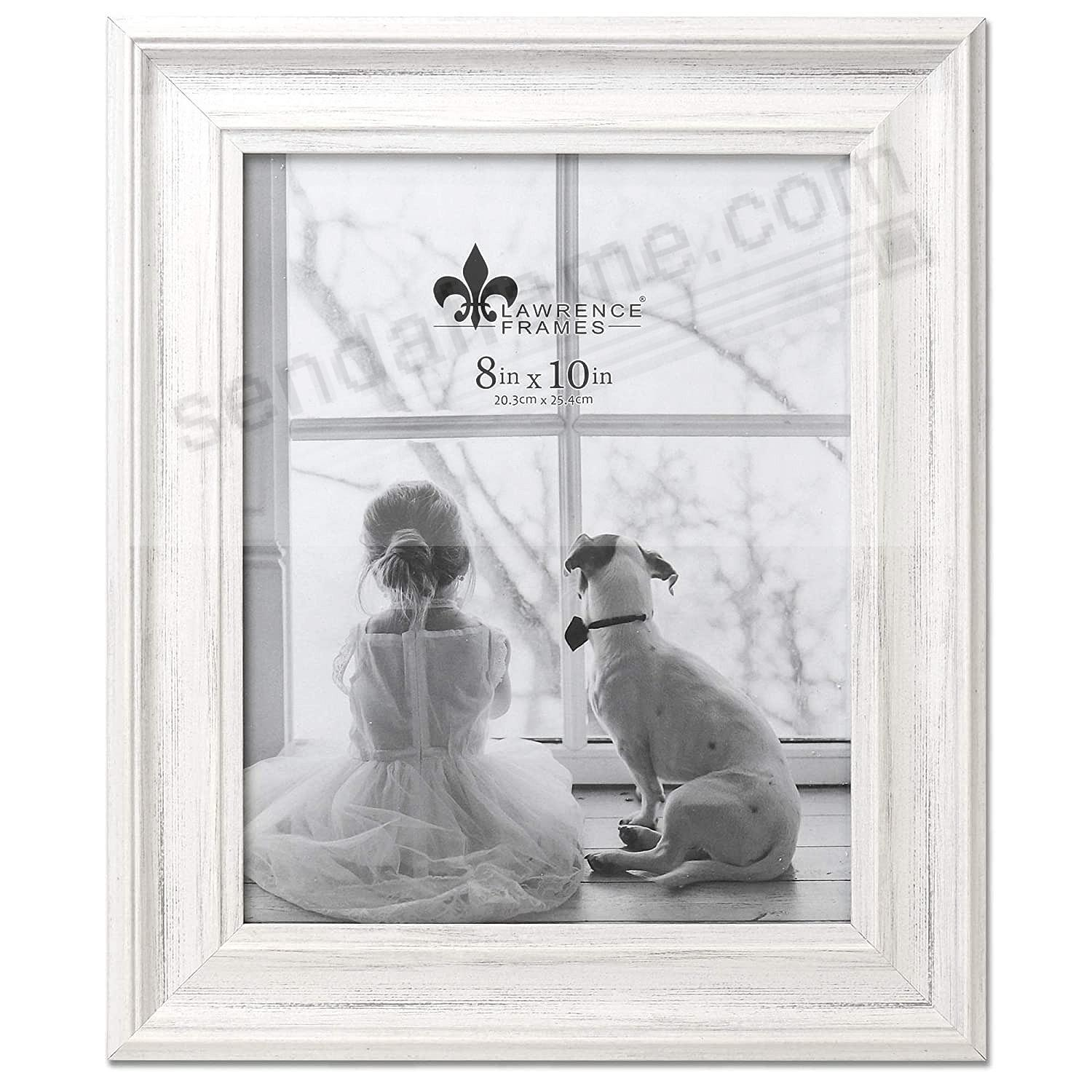 Antique WHITE MARLO 8x10 frame by Lawrence®