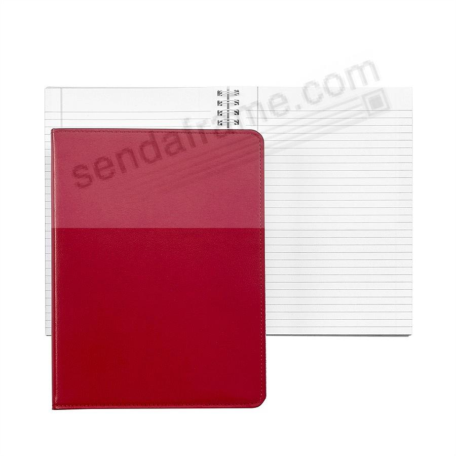 Wire-O-Notebook 9in Red Bonded Leather by Graphic Image™