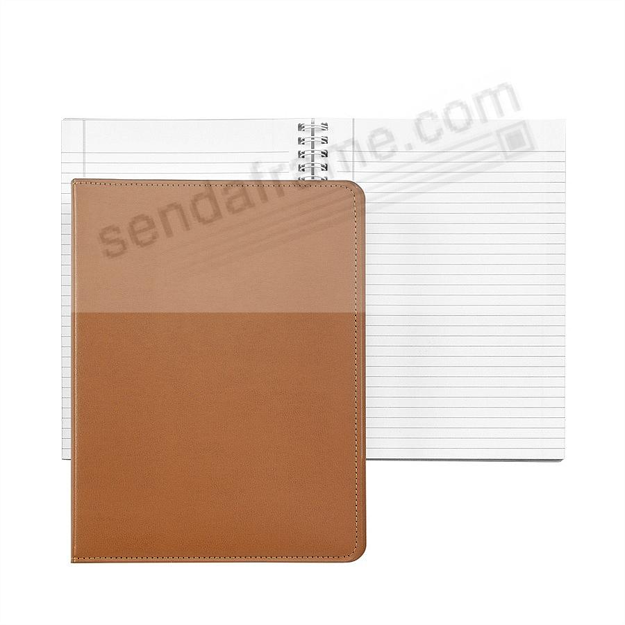 Wire-O-Notebook 9in TAN Bonded Leather by Graphic Image™