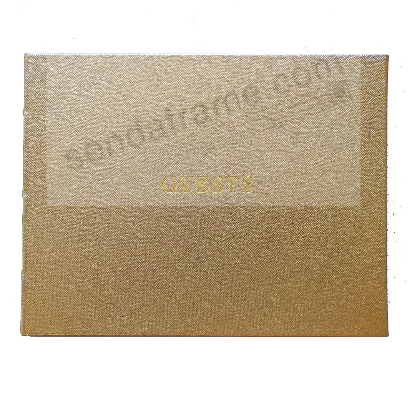 Saffiano-Gold Eco-leather Guest Book for a lasting record by Papyrus®