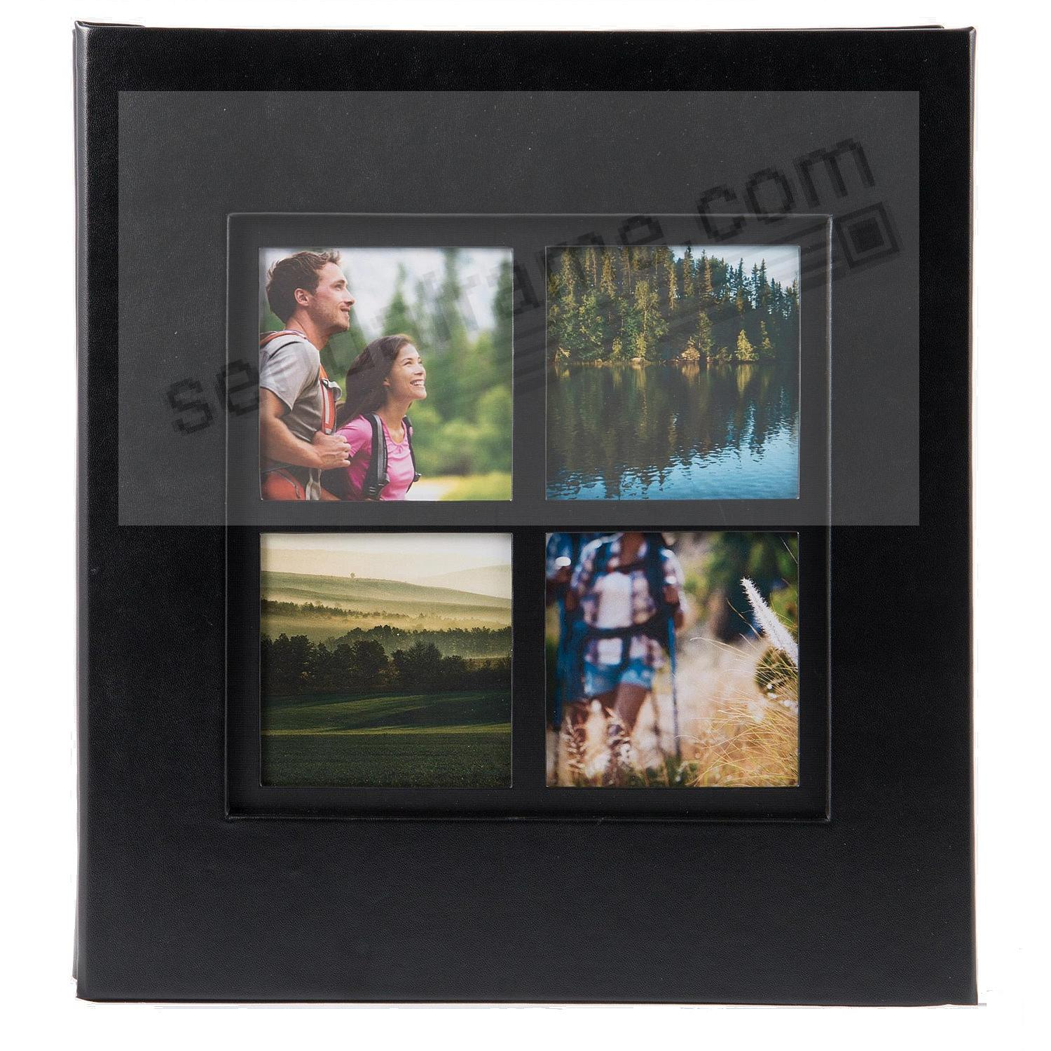 Collage Cover Frame Embossed Family Album - Black - by PINNACLE