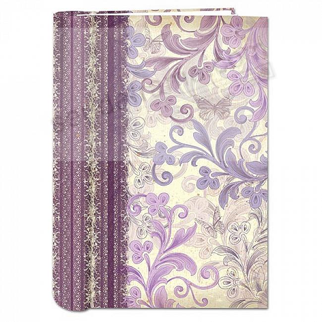 Spiral BOUND 3-Up Bi-Directional WINE RENAISSANCE Memo Pocket album