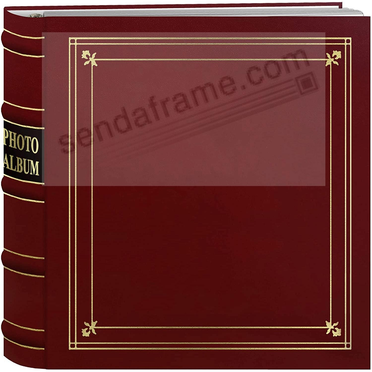 RED Leather 3-Ring BI-DIRECTIONAL 200 print / 2up pocket album