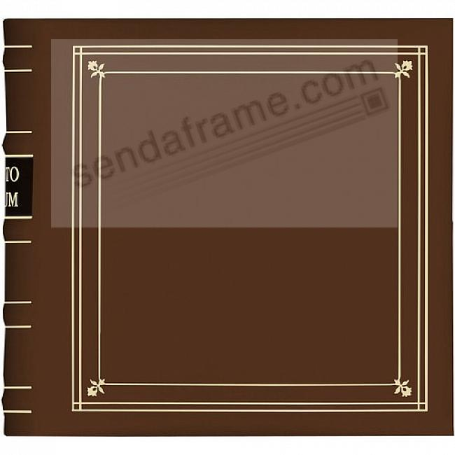 TAN Leather 3-Ring BI-DIRECTIONAL 200 print / 2up pocket album