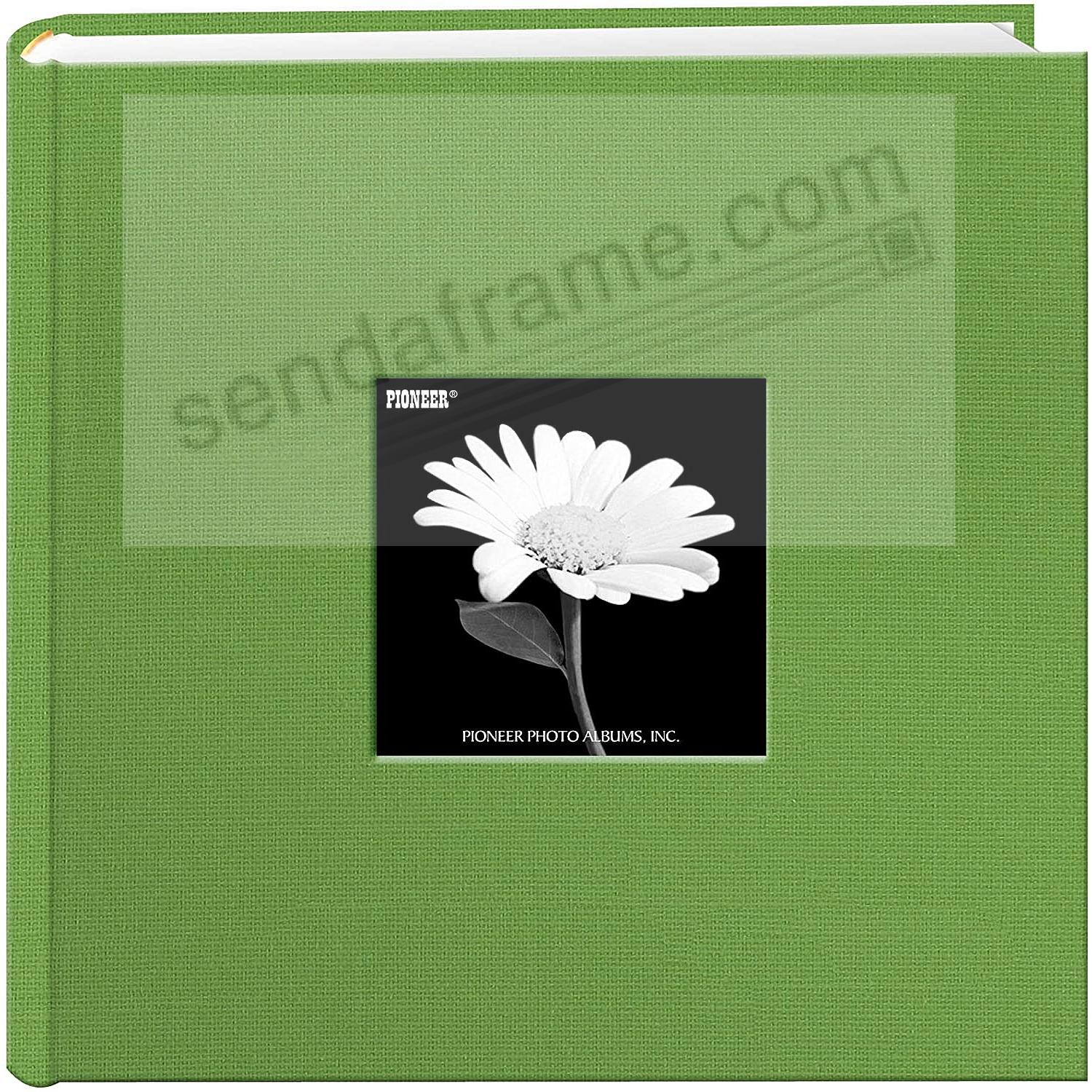Citrus-Green cloth 2-up frame cover photo album by Pioneer®