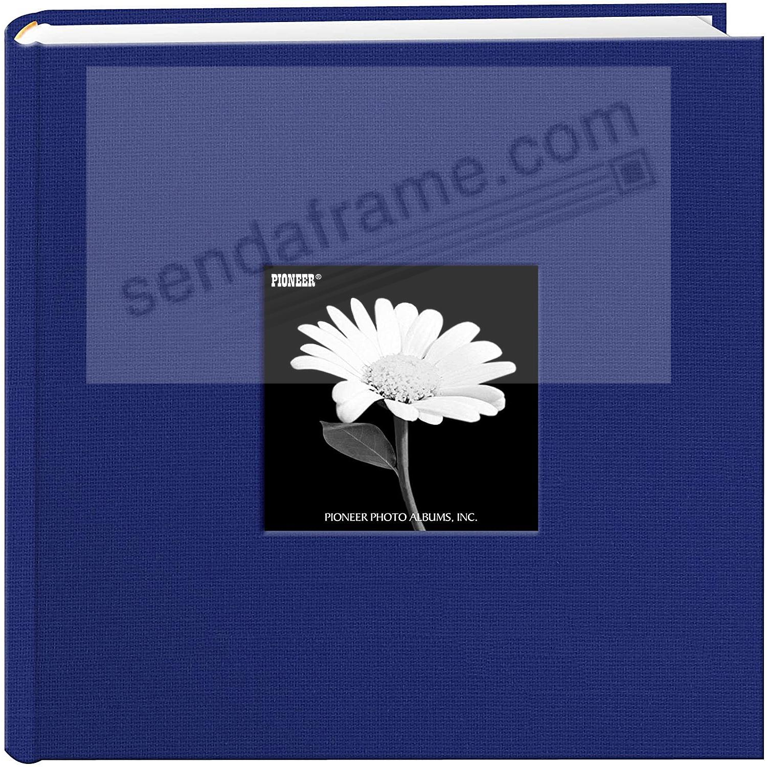 Cobalt-Blue cloth 2-up frame cover photo album by Pioneer®