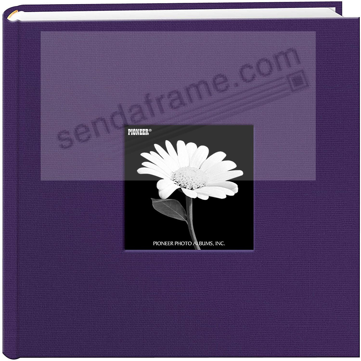 Grape-Purple cloth 2-up frame cover photo album by Pioneer®