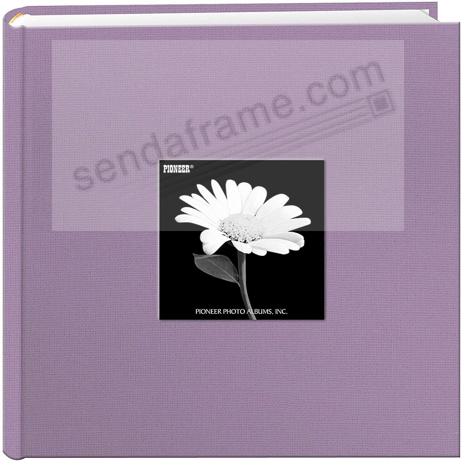 MISTY-LILAC Cloth 2-up frame cover photo album by Pioneer®