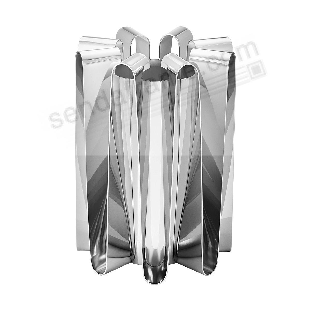 The FREQUENCY VASE (LG - 8in) Stainless Steel by Georg Jensen®