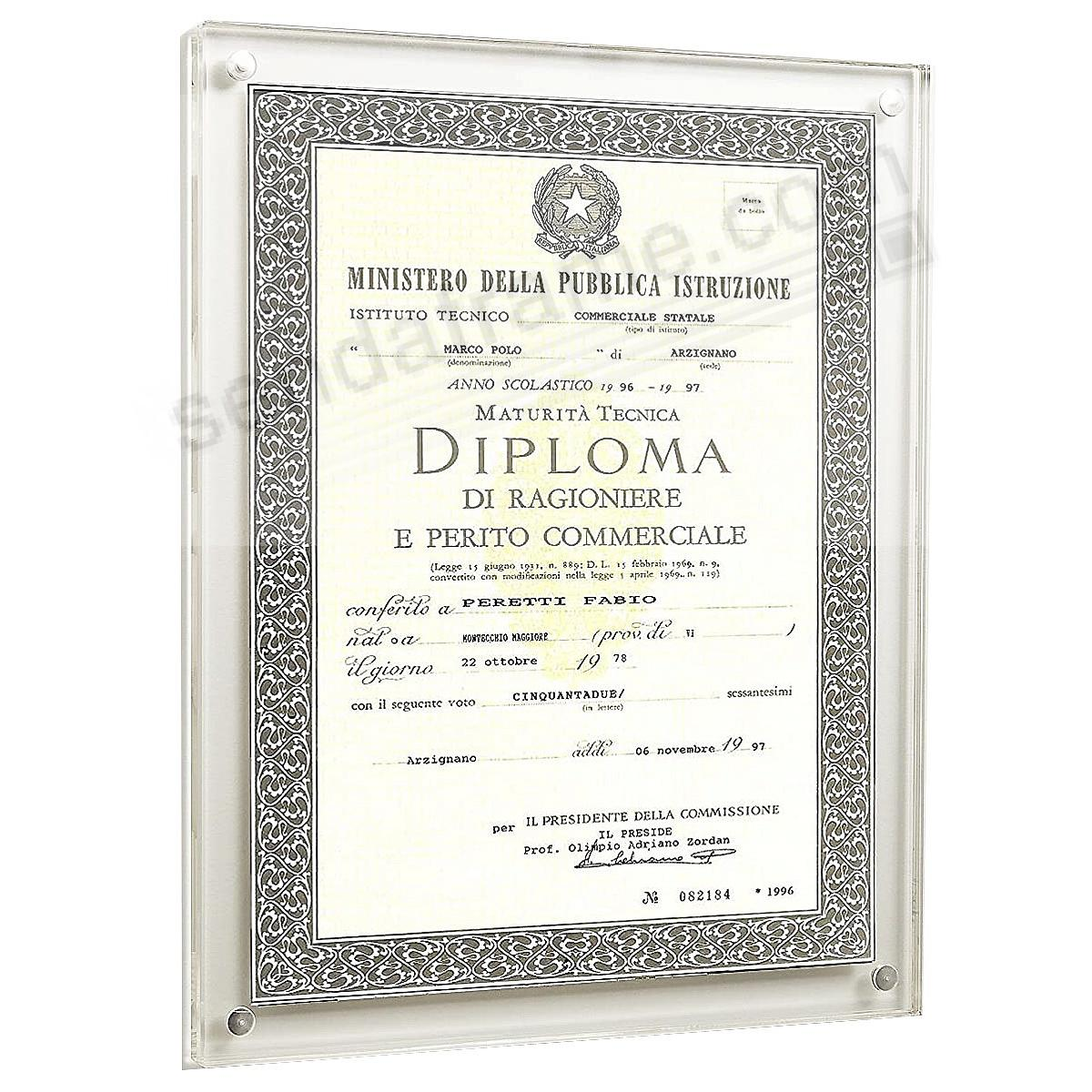 The Original Museum MAGNET FRAME by Canetti® - now in an 8½x11 Wall-Hanging Certificate style