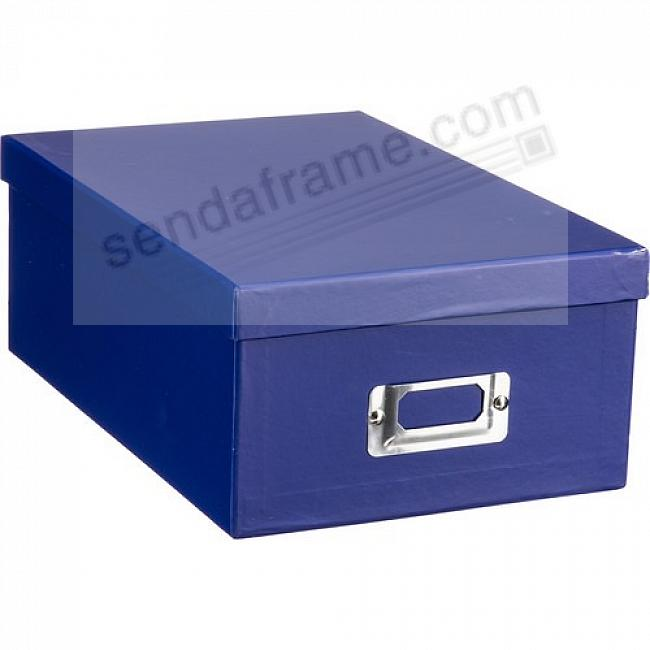 BRIGHT-BLUE Archival STORAGE Photo Box by Pioneer®