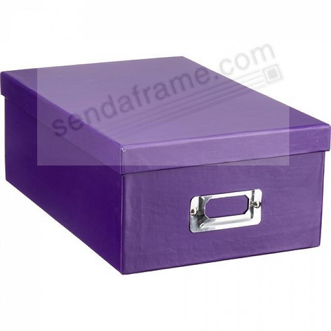 BRIGHT-PURPLE Archival STORAGE Photo Box by Pioneer®